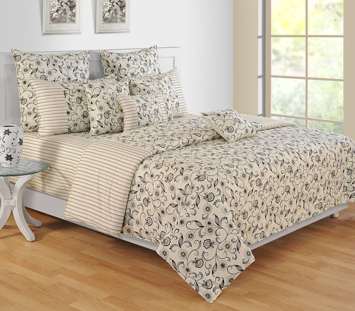 Canopus Black Floral Duvet Cover Set