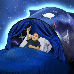 Kids Sleeping Dream Toys Tent with LED Play House Wonderland Princess Pop Up Tents Chidren Home Indoor Folding Tent Portable Adventure Gifts