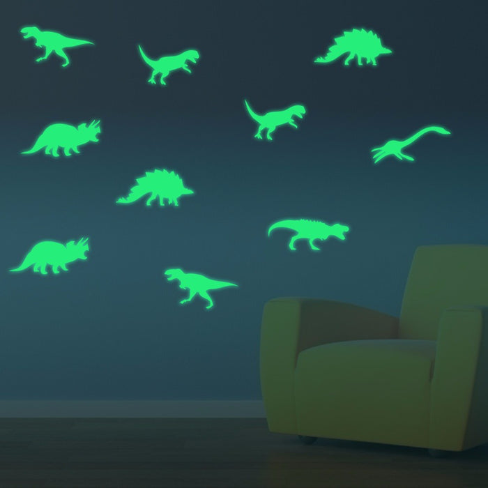 Honana DX-132 9PCS 15x6cm Fluorescent Glow Dinosaur Wall Sticker
