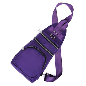 Women Nylon Leisure Waterproof Chest Bag