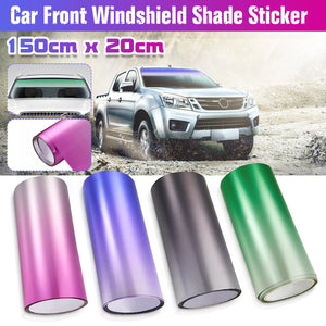 Car Front Windshield Protect Shade Sticker Window Sun Visor Strip Tint Film DIY 150 x 20cm