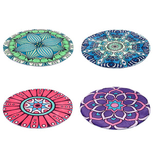 Round Style Decoration Fluffy Rugs Shaggy Carpet Floor Mat