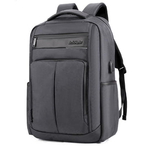 ARCTIC HUNTER B00121C 18 Inch Laptop Backpack USB Charging Laptop Bag Mens Shoulder Bag Business Casual Travel Backpack Korean Style Backpack