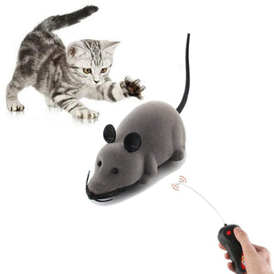 Yani Creative Pet Toys Electronic Remote Control Mouse Pet Cat Dog Toy Lifelike Funny Flocking Rat Toy