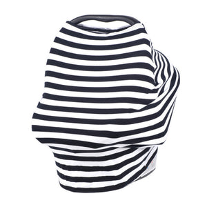 Women Multi-Use Nursing Breastfeeding Cover Scarf Stretchy Baby Car Seat Cover Shopping Cart Cover