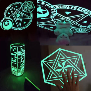 1/2/3/5Mx30mm Nano PU Fluorescent Tape Double-sided Tape Traceless Luminous Tape Night Glow Sticker Home Decor