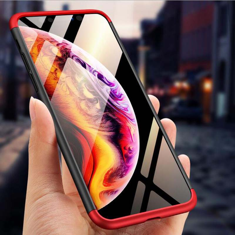 Bakeey™ 3 in 1 Double Dip 360° Hard PC Protective Case For iPhone XS Max