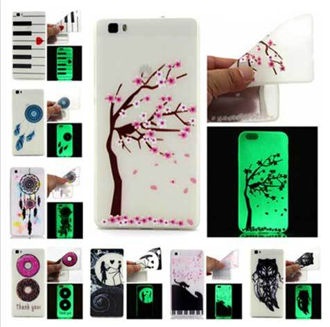 Huawei P8 Lite Glow in the dark Phone Cases Silicone TPU Night Light Case