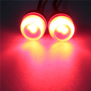 12V Motorcycle Car 5630 LED Eagle Eye Concave Mirror Light DRL Tail Lamp