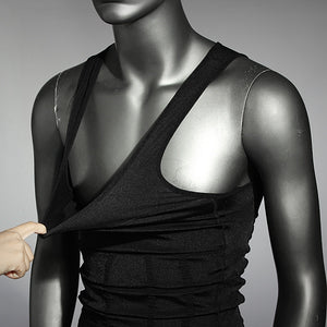 Men's Belly Body Shaper Vest Shirt Corset Underwear Belt