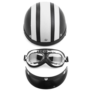 Full Face Motorcycle Helmet With Sunglasses Sun shield Scarf Colorful Motorbike