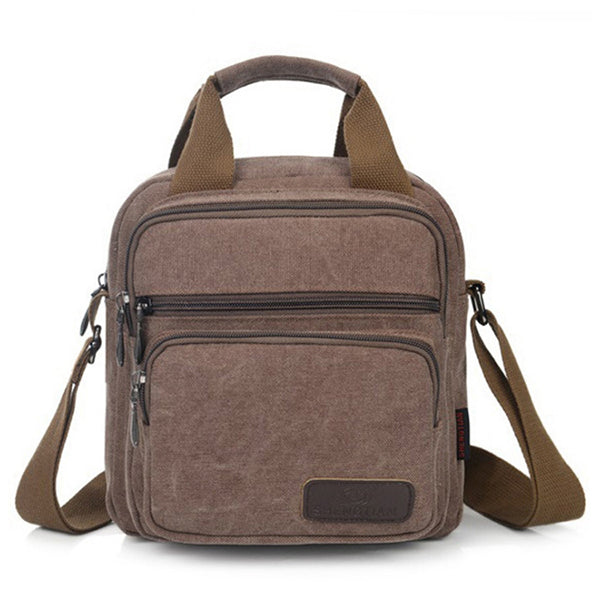 Men Canvas Classic Vintage Shoulder Bag Crossbody Bag Casual Travel Handbag