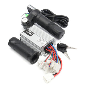 36V 1000W Motorcycle Controller Brushed+Throttle Twist Grips Electric Bike Scooter