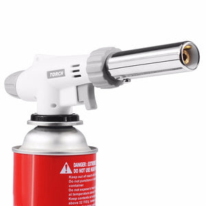 IPRee BBQ Gas Flame Torch Gun Blowtorch Cooking Stove Burner Soldering Butane  Lighter Welding
