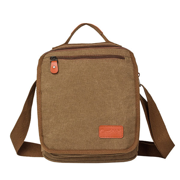 Casual Men Canvas Crossbody Bag Shoulder Bag