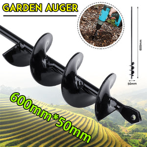 600×50mm Garden Auger Earth Planter Drill Bit Post Hole Digger Auger Drill Accessories