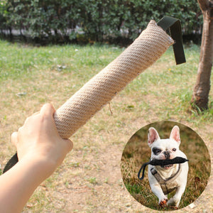 Handles Jute Police Young Dog Bite Tug Play Toy Pet Training Chewing Dog Bite Protection Arm Sleeve