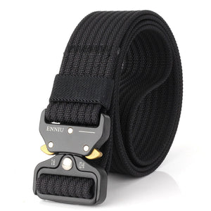 125cm ENNIU TB13 3.8cm Nylon Waist Belts Alloy Buckle Heavy Duty Rigger Military Tactical Belt