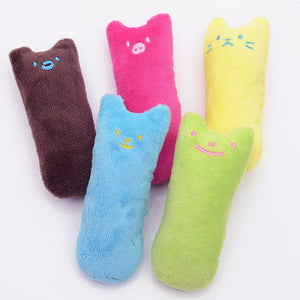 Cute Interactive Fancy Pets Teeth Grinding Catnip Toys Claws Thumb Bite Cat mint Pet Toys