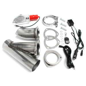 3 Inch Electric Exhaust Valve Catback Down Pipe Systems Kit Remote Intelligent E-Cut