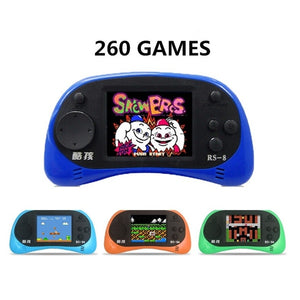 Coolboy RS-8 8Bit 2.5inch Screen Built-in 260 Different Classic Games Handheld Game Consoles with AV Cable