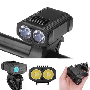 XANES DL14 1200LM 2XPE Bicycle Headlamp Intelligent Power Display for Xiaomi Electric Scooter E-bike USB Rechargeable Front Light