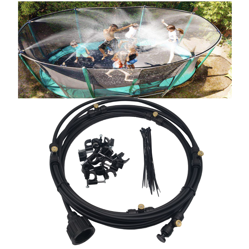 Black 6-18M Outdoor Mist Coolant System Misting Cooling Kit for Greenhouse  Garden Patio Watering Irrigation System