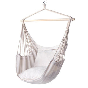 Cotton Canvas Hanging Chair Outdoor Garden Swing Hammock Chair Camping Home