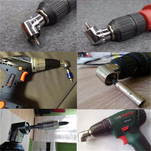 Drillpro 1/4 Inch Hex Shank Drill Bit Angle Driver 105 Degree Adjustable Angle Driver Screwdriver