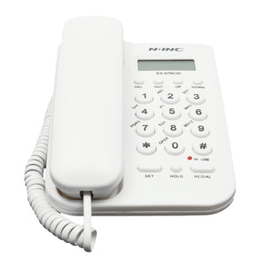 NINC Telephone Corded Phone Landline Phone Home Office Extension Telephone Fixed Phone White