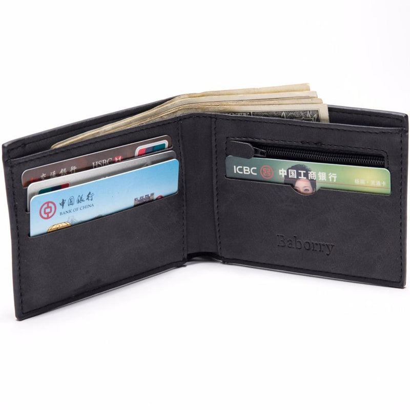 Men Wallet With Coin Bag zipper money purses Wallets  New Design - W1126 - Flickdeal.co.nz
