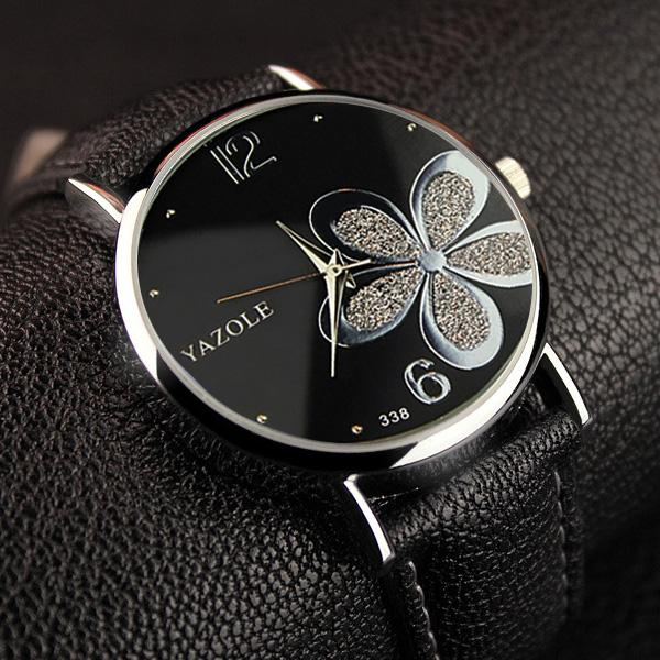 Flower Quartz Watch for Women - Ladies Wrist Flower Watch k985