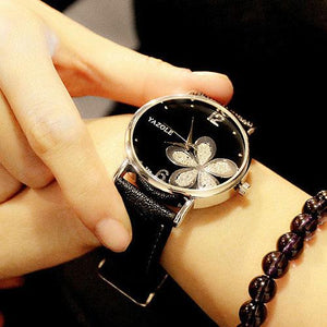 Flower Quartz Watch for Women - Ladies Wrist Flower Watch k985 - Flickdeal.co.nz