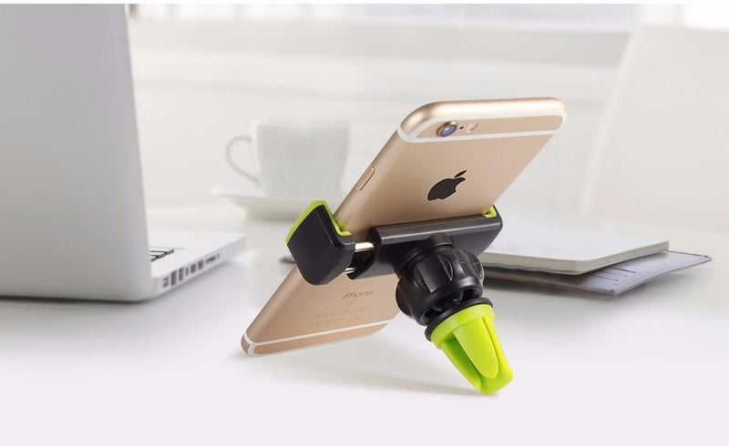 Universal phone holder stand  for iPhone 7 5s 6s Plus Samsung S8 360 adjustable air vent GPS car mobile phone holder - Flickdeal.co.nz