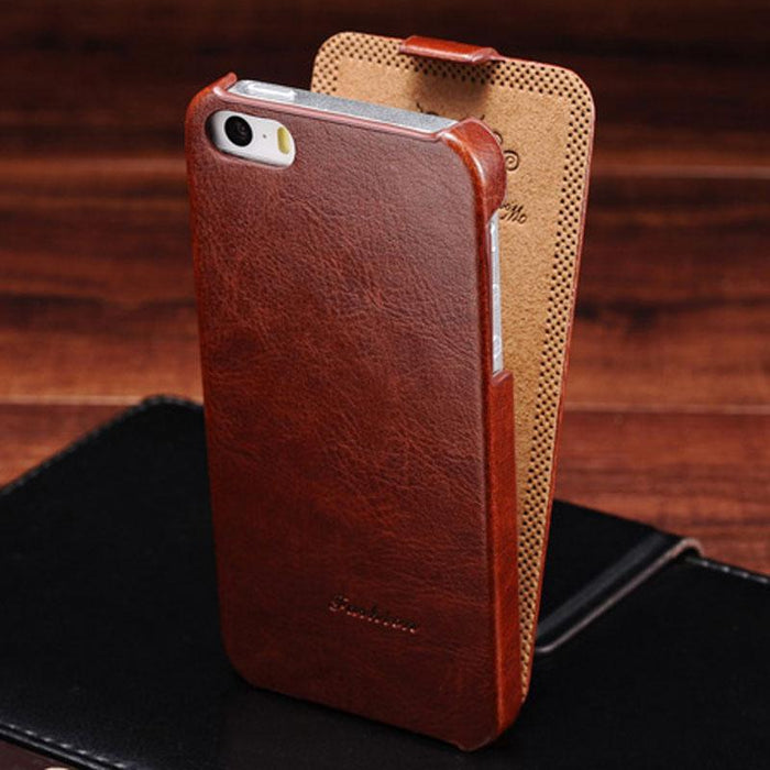 Retro PU Leather Flip Case for iPhone 5s 5 S SE Phone Bag Cases For iPhone 5 5SE Luxury
