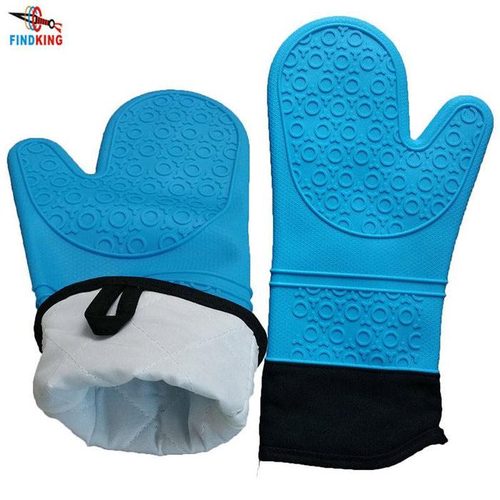 Silicone Oven Glove with Quilted Cotton Liner