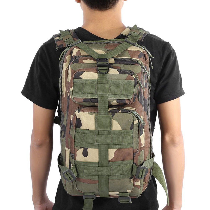 Hiking Trekking Backpack - Camouflage Military Bag - Outdoor Backpack for Trekking and Hiking