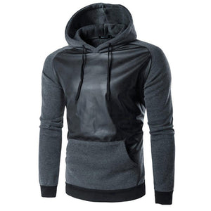Fashion Men Sweatshirt Retro Long Sleeve Hoodie Hooded Cotton Warm Thick Tops Jacket Coat Outwear - Flickdeal.co.nz