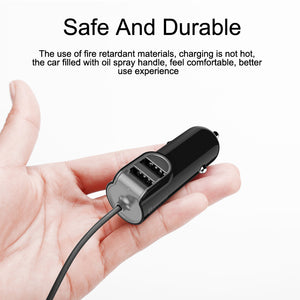 Dual USB Car Charger 5.5A Fast Car-Charger Adapter For iPhone 7 6 Smart Mobile Phone Charger, With 1m Cable For iPhone - Flickdeal.co.nz