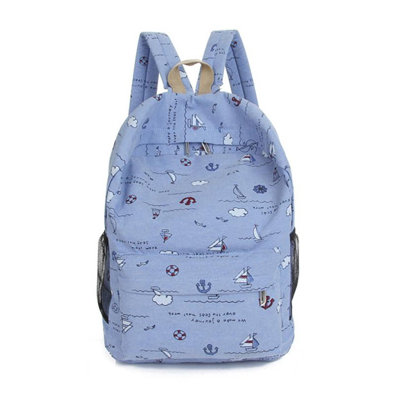 School Backpacks for Girls Canvas Women Backpacks Fashion School Bags Schoolbag - Flickdeal.co.nz