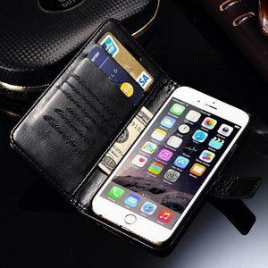 Wallet Leather Case For iPhone 6 6S / 6 6S Plus With Card Slot - Cover for iPhone 6 S Plus Phone - Flickdeal.co.nz