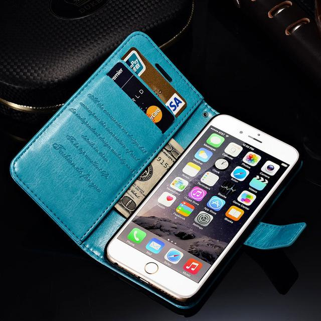 Wallet Leather Case For iPhone 6 6S / 6 6S Plus With Card Slot - Cover for iPhone 6 S Plus Phone