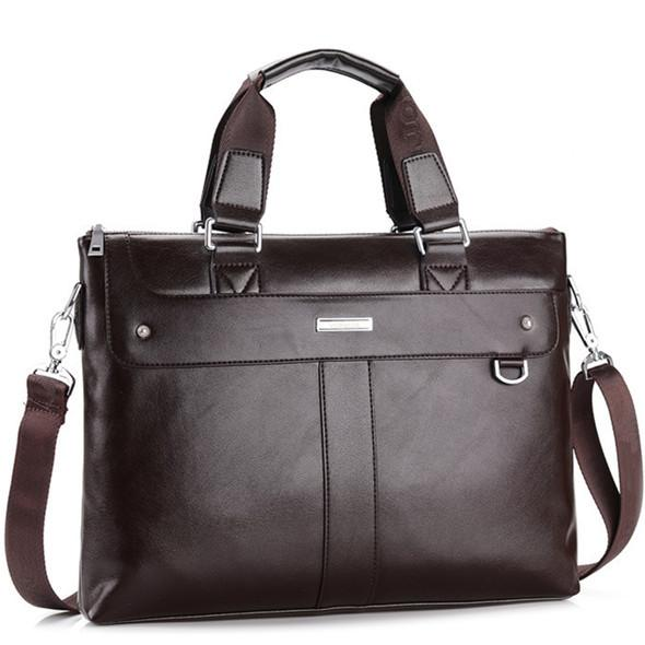 Men Casual Briefcase Business Shoulder Bag Leather Messenger Bags Computer Laptop Handbag Bag - Flickdeal.co.nz