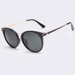 Women Sunglasses - Cat Eye Oval Mirror glasses  UV400 Anti-Reflective - Flickdeal.co.nz