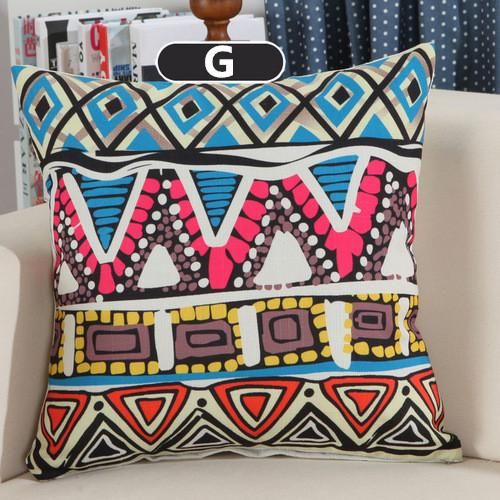 Cushion Covers - Boho Bohemian Style Cotton Cushion Cover Decorative Pillowcase 40149 - Flickdeal.co.nz