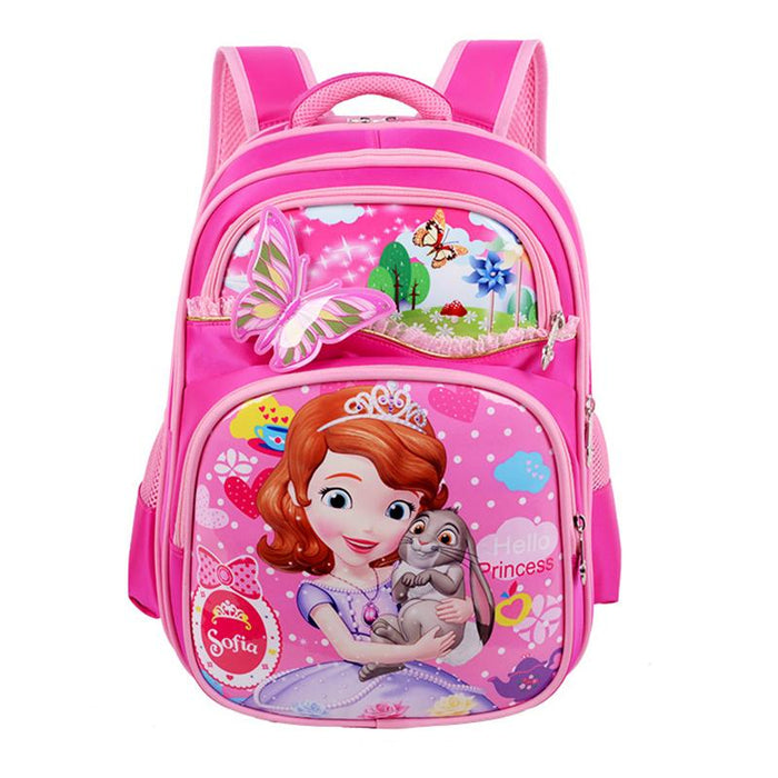 Orthopedic Breathable Schoolbag for Children Cartoon School Bags For Girls TYU78