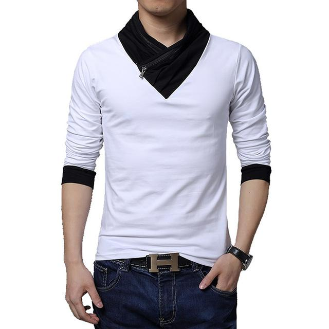 T Shirt for Men - Long Sleeve Casual Cotton T-Shirt for Men M-5XL - Flickdeal.co.nz