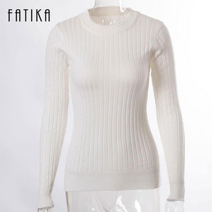 Women's Fashion Sweaters - Knitted Pullovers - 4 Colors - Flickdeal.co.nz