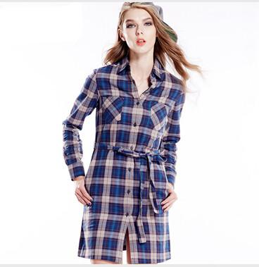 Women's Plaid Shirt Long Sleeve Ladies Tunic Top - 4 designs