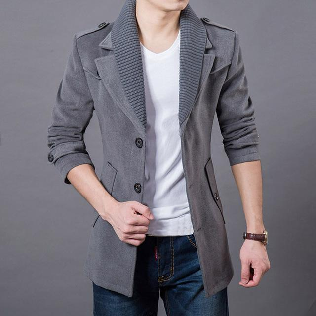 Mens Wool Jacket for Autumn Winter - Wool Coat  for Men - 77 Colors